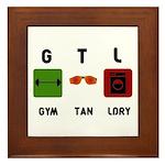 Gym Tan Laundry Framed Tile
