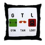 Gym Tan Laundry Throw Pillow