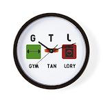 Gym Tan Laundry Wall Clock