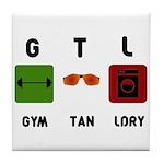 Gym Tan Laundry Tile Coaster