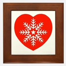 Snowflake Heart Framed Tile