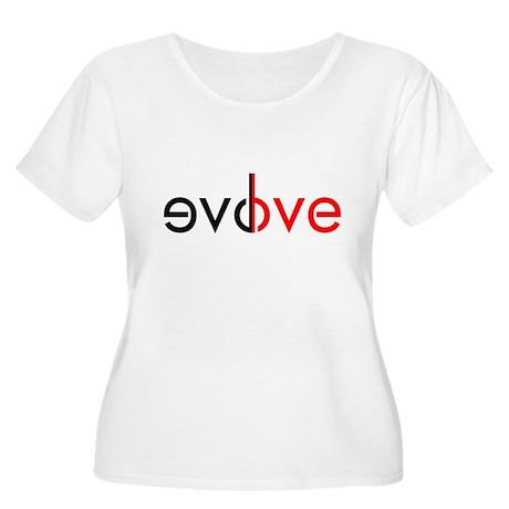 evolve love Women's Plus Size Scoop Neck T-Shirt