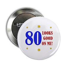 "Fun 80th Birthday 2.25"" Button (100 pack)"