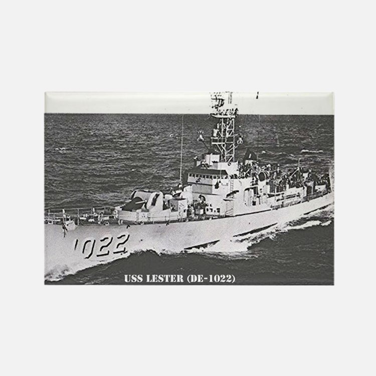 USS LESTER Rectangle Magnet