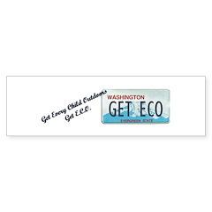 Get E.C.O. Washington License Plate Bumper Sticker