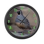 California Quail Large Wall Clock