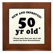 50th Birthday Gag Framed Tile