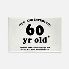 60th Birthday Gag Gifts Rectangle Magnet