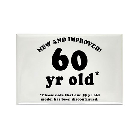 60th Birthday Gag Gifts Rectangle Magnet (100 pack