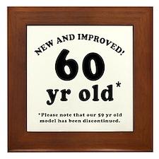 60th Birthday Gag Gifts Framed Tile