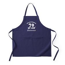 70th Birthday Gag Gifts Apron (dark)