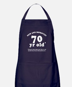 70th Birthday Gag Gifts Apron (dark)
