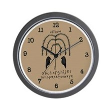 Willow and Crows Prim Art Wall Clock