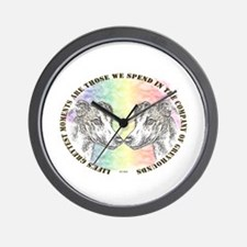 COMPANY OF GREYHOUNDS WALL CLOCK