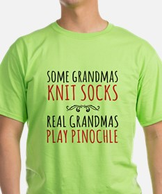 Real Grandmas Play Pinochle T-Shirt