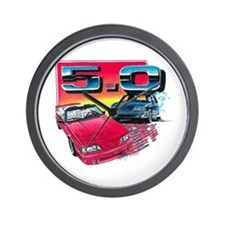 Mustang 5.0 Wall Clock