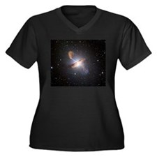 Black Hole Women's Plus Size V-Neck Dark T-Shirt