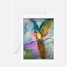 Blue Macaw, Greeting Card
