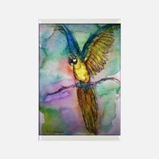 Blue macaw, bright, Rectangle Magnet
