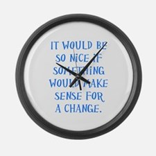 It Would Be Nice Large Wall Clock