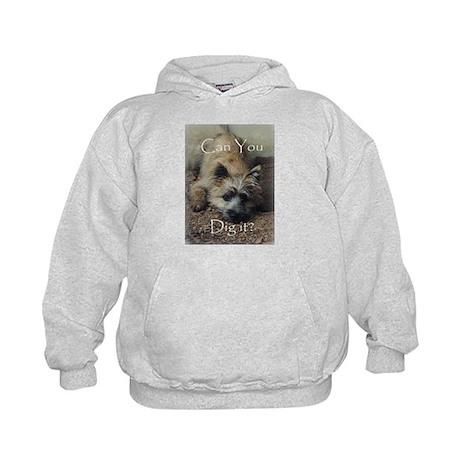 Cairn Terrier Dig It! Kids Hoodie