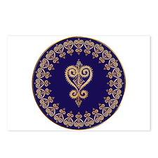 Armenian Heart Mandala Postcards (Package of 8)