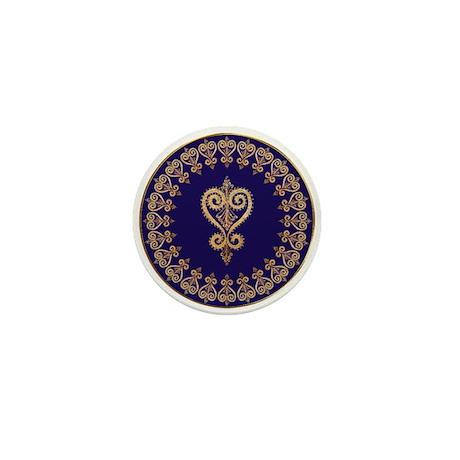 Armenian Heart Mandala Mini Button (10 pack)