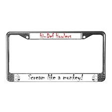 Funny Howler License Plate Frame