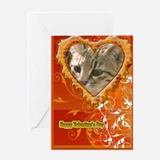 Geoffroy Cat Romance Greeting Card