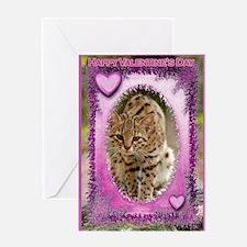 Geoffroy Cat Romance Greeting Card