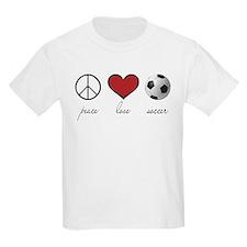 Peace, Love, Soccer T-Shirt