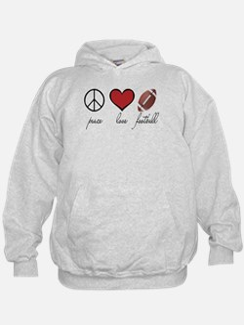Peace, Love, Football Hoodie