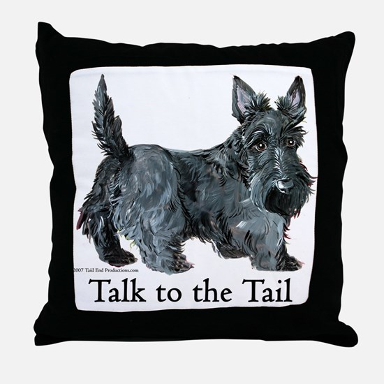Scottish Terrier Attitude Throw Pillow
