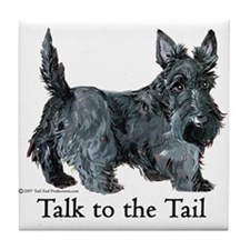 Scottish Terrier Attitude Tile Coaster