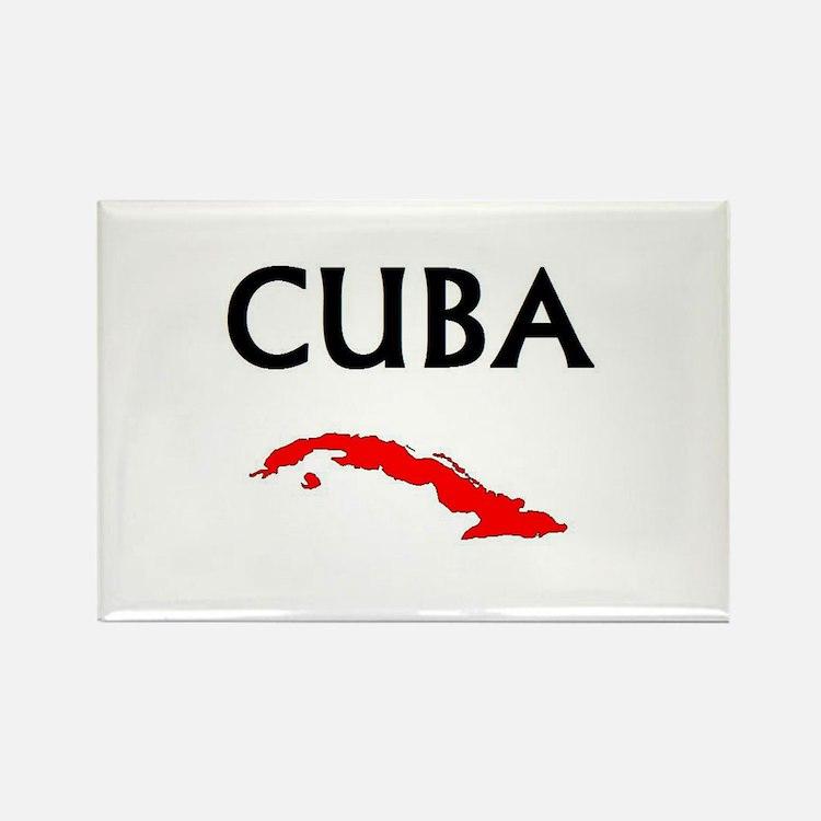 Cute Cuba travel Rectangle Magnet