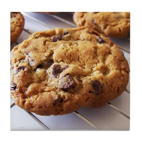 Chocolate Chip Cookies Tile Coaster
