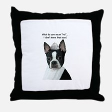 Boston Terrier Princess Throw Pillow