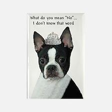 Boston Terrier Princess Rectangle Magnet