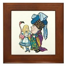 Alice and the Duchess Framed Tile