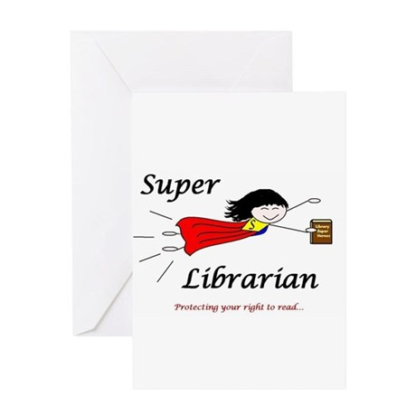 Library Chick Greeting Card