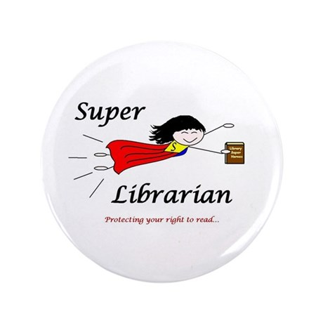 """Library Chick 3.5"""" Button"""