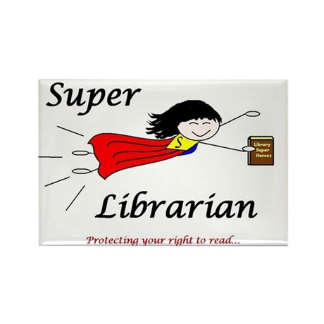 Library Chick Rectangle Magnet