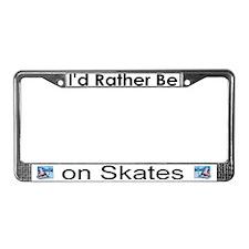 """""""Figure Skater"""" License Plate Frame"""