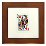 Queen of diamonds Framed Tiles