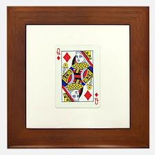 Queen of Diamonds Framed Tile