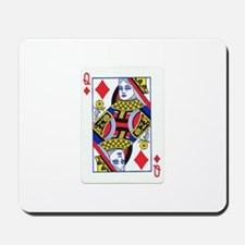 Queen of Diamonds Mousepad