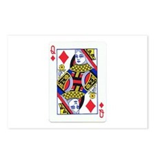 Queen of Diamonds Postcards (Package of 8)