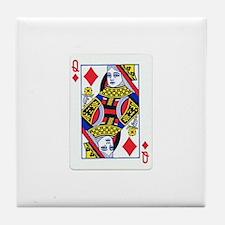 Queen of Diamonds Tile Coaster