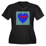 Psychic Women's Plus Size V-Neck Dark T-Shirt
