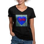 Psychic Women's V-Neck Dark T-Shirt